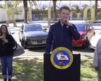 Gov. Newsom announced that California will HALT sales of gas powered passenger cars & trucks